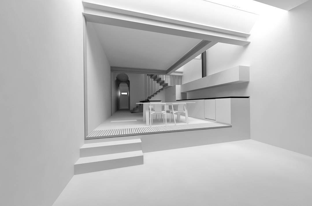 Living & kitchen - render